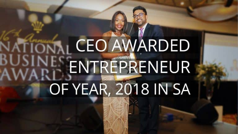 CEO of Fibon Energy Awarded Entrepreneur of Year, 2018 in South Africa